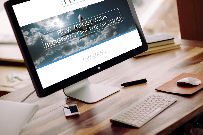ITPR eBook - blogging mockdrop